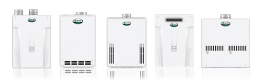 selection of tankless water heaters for installation by our Berkeley CA water heater repair & installation team